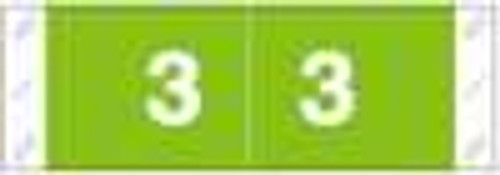 Tabbies Numeric Label - 11850 Series (Rolls) - 3 - Lt. Green