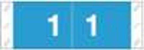 Tabbies Numeric Label - 11850 Series (Rolls) - 1 - Lt. Blue