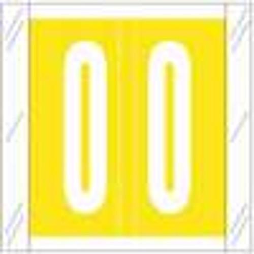 Tabbies Numeric Label - 11500 Series (Rolls) - 0 - Yellow