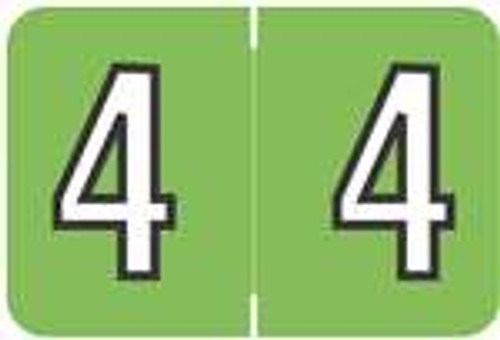 Barkley Systems Numeric Label - FNBKM Series (Rolls) - 4 - Green