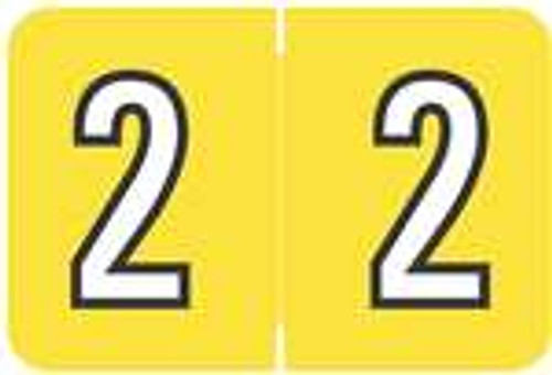 Barkley Systems Numeric Label - FNBKM Series (Rolls) - 2 - Yellow