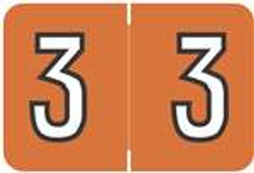 Barkley Systems Numeric Label - FNBKM Series (Rolls) - 3 - Orange