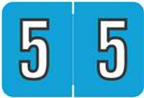 Barkley Systems Numeric Label - FNBKM Series (Rolls) - 5 - Blue
