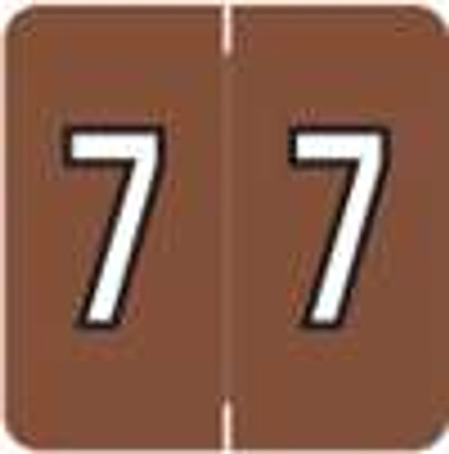 Barkley Systems Numeric Label - FNBRM Series (Rolls) - 7 - Brown