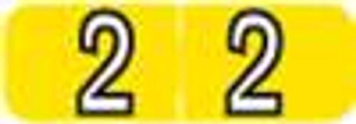 Barkley Systems Numeric Label - FNBAM Series (Rolls) - 2 - Yellow
