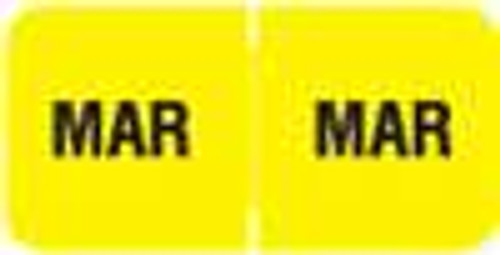 Barkley Systems Month Designation Labels -  FMBLM Series (Rolls) - March/Yellow
