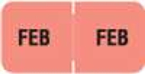 Barkley Systems Month Designation Labels -  FMBLM Series (Rolls) - February/Pink
