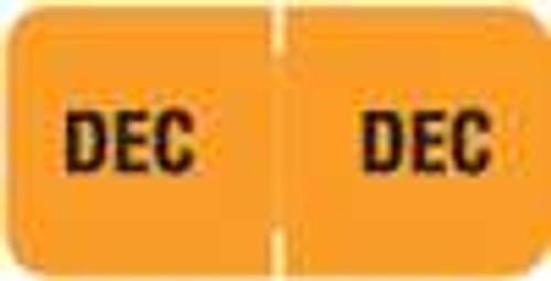 Barkley Systems Month Designation Labels -  FMBLM Series (Rolls) - December/Lt. Orange