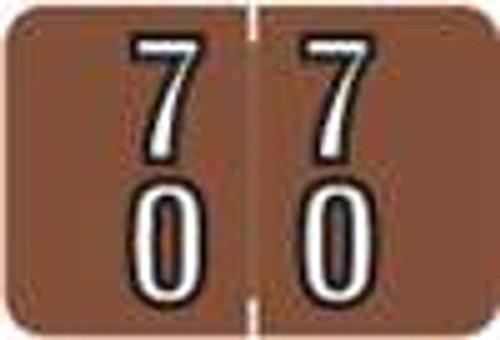 Barkley Systems Numeric Label - FDBKM Series (Rolls) - 70 - Brown