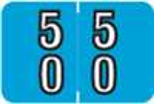 Barkley Systems Numeric Label - FDBKM Series (Rolls) - 50 - Blue