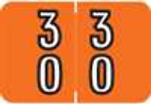 Barkley Systems Numeric Label - FDBKM Series (Rolls) - 30 - Orange