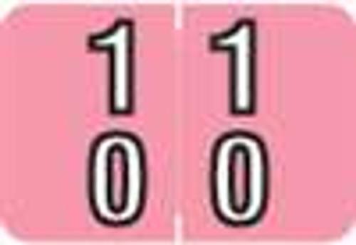 Barkley Systems Numeric Label - FDBKM Series (Rolls) - 10 - Pink