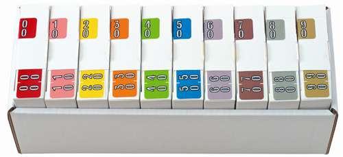 Barkley Systems Numeric Label - FDBKM Series (Rolls) - 00-90 Set with tray