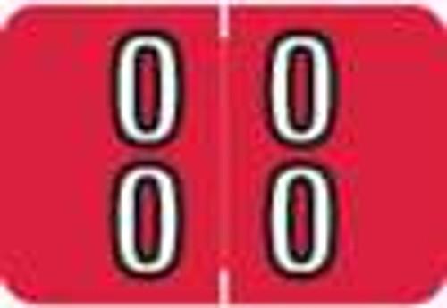 Barkley Systems Numeric Label - FDBKM Series (Rolls) - 00 - Red