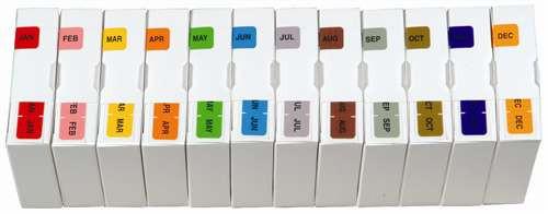 Barkley Systems Month Designation Labels -  FMBLM Series (Rolls) - JAN-DEC Set