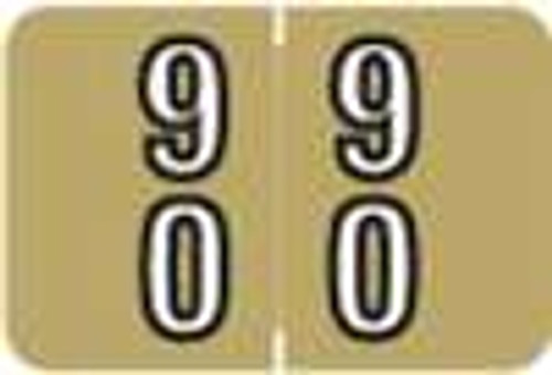 Barkley Systems Numeric Label - FDBKM Series (Rolls) - 90 - Gold