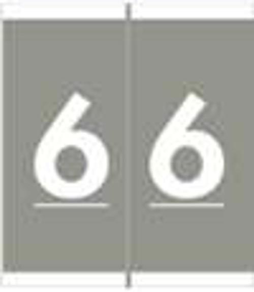 Barkley Systems Numeric Label - FNAVM Series (Rolls) - 6 - Gray