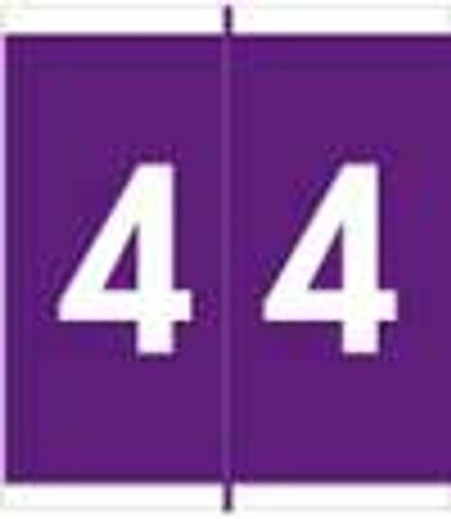 Barkley Systems Numeric Label - FNAVM Series (Rolls) - 4 - Purple