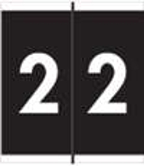 Barkley Systems Numeric Label - FNAVM Series - 2 - Black - 500/Roll