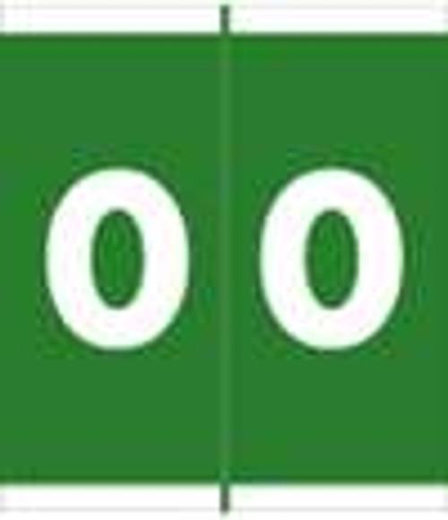 Barkley Systems Numeric Label - FNAVM Series (Rolls) - 0 - Green