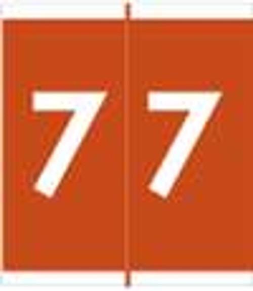 Barkley Systems Numeric Label - FNAVM Series (Rolls) - 7 - Brown