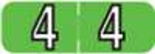 Barkley Systems Numeric Label - FNBAM Series (Rolls) - 4 - Green