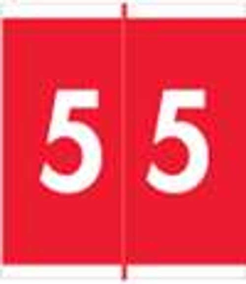 Barkley Systems Numeric Label - FNAVM Series (Rolls) - 5 - Red