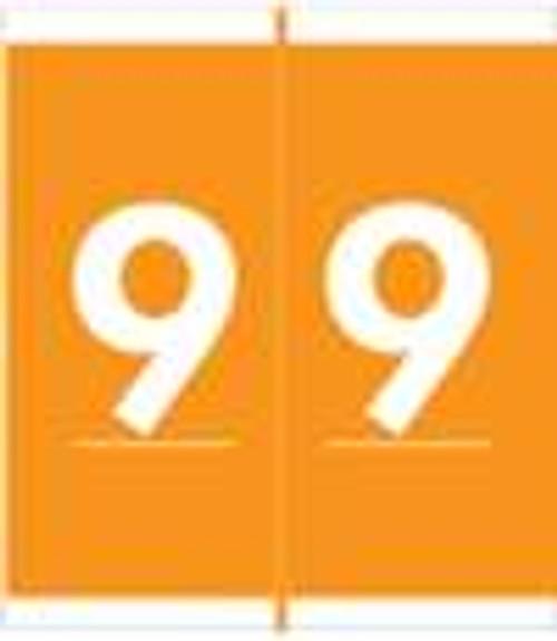 Barkley Systems Numeric Label - FNAVM Series (Rolls) - 9 - Orange