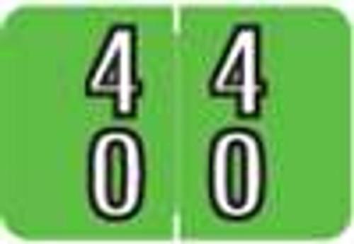 Barkley Systems Numeric Label - FDBKM Series (Rolls) - 40 - Green