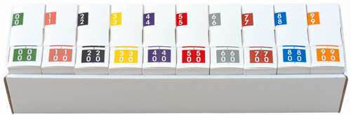 Barkley Systems Numeric Label - FDAVM Series (Rolls) - 00-90 Set with tray