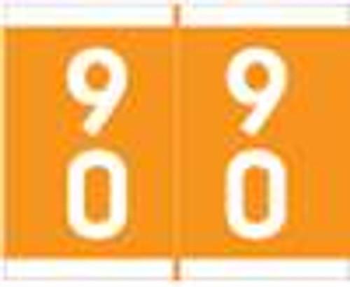 Barkley Systems Numeric Label - FDAVM Series (Rolls) - 90 - Orange