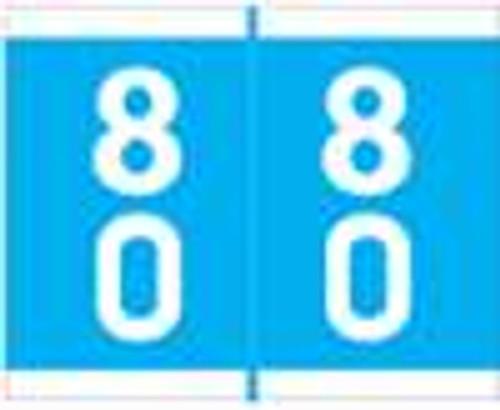Barkley Systems Numeric Label - FDAVM Series (Rolls) - 80 - Blue