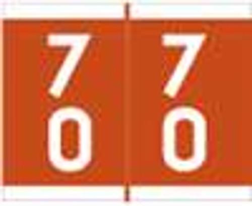 Barkley Systems Numeric Label - FDAVM Series (Rolls) - 70 - Brown