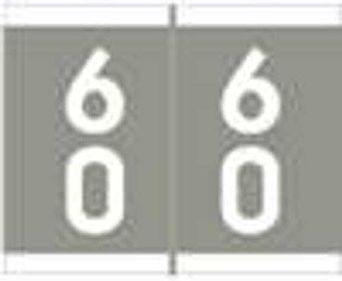 Barkley Systems Numeric Label - FDAVM Series (Rolls) - 60 - Gray