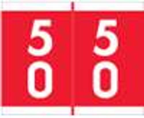 Barkley Systems Numeric Label - FDAVM Series (Rolls) - 50 - Red