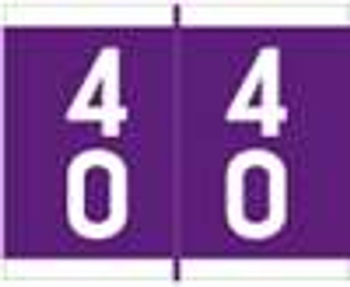 Barkley Systems Numeric Label - FDAVM Series (Rolls) - 40 - Purple