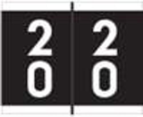Barkley Systems Numeric Label - FDAVM Series (Rolls) - 20 - Black