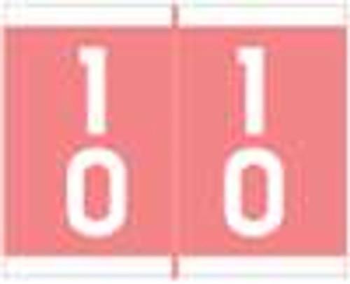 Barkley Systems Numeric Label - FDAVM Series (Rolls) - 10 - Pink