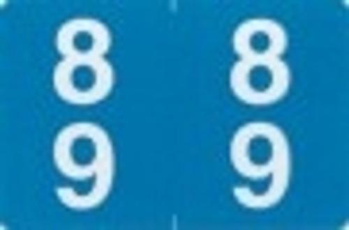 ACME Numeric Double Digit Labels - 80-89 - Matte - 500/Roll