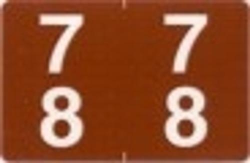 ACME Numeric Double Digit Labels - 70-79 - Matte - 500/Roll