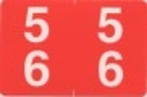 ACME Numeric Double Digit Labels - 50-59 - Matte - 500/Roll