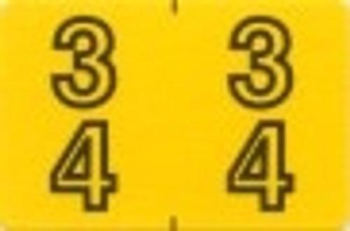 ACME Numeric Double Digit Labels - 30-39 - Matte - 500/Roll