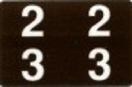 ACME Numeric Double Digit Labels - 20-29 - Matte - 500/Roll