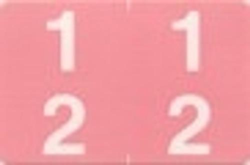 ACME Numeric Double Digit Labels - 10-19 - Matte - 500/Roll