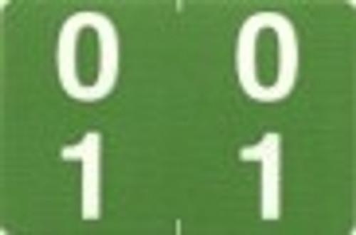 ACME Numeric Double Digit Labels - 00-09 - Matte - 500/Roll