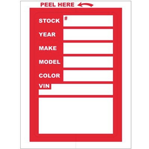 Automobile Window Stock Stickers - Red