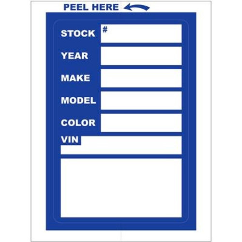 Automobile Window Stock Stickers - Blue