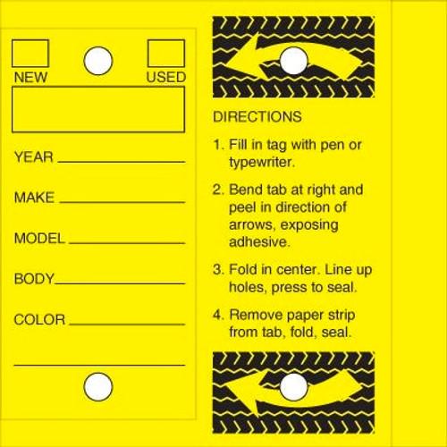 Key Tags - Yellow