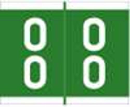 Barkley Systems Numeric Label - FDAVM Series (Rolls) - 00 - Green
