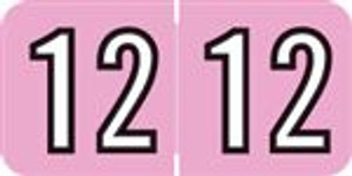 Amerifile Yearband Label - ARYM Series (Rolls) - 2012 - Pink